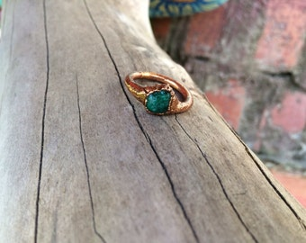 Electroformed Seaglass Ring