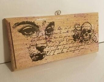Memento Mori Victorian Eyes and Skull Wall Art