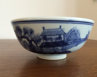 Blue and White China Bowl