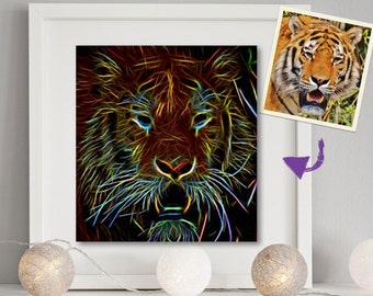 Electrifying Custom Wall Art