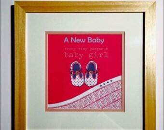 New baby girl frame