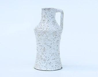 Vintage white vase 164-Retro ceramic vase