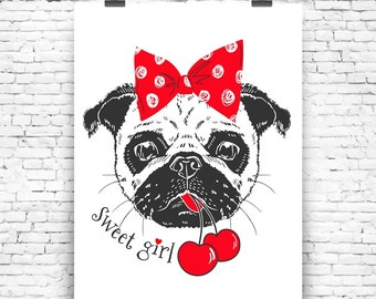 Art Print Sweet Girl