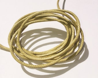 Cotton Waxed Cord tan/light brown / 2mm width / 1 yard / 5 yard / 12 yard / 20 yard
