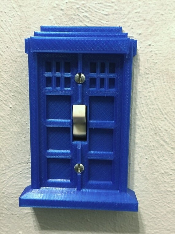 Items similar to dr who tardis police box light switch for Tardis light switch cover
