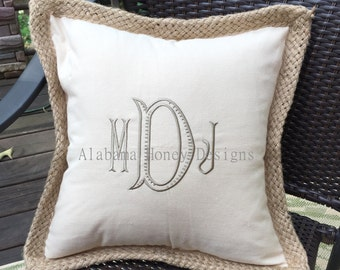 Monogrammed Pillow Covers: Stella Design