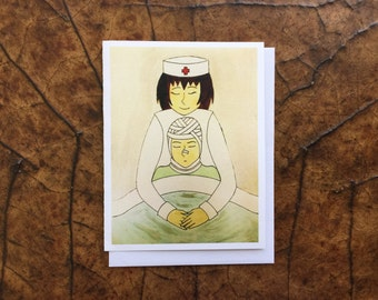 Get Well, Get Well Card, Get Well Soon,  Nurse Thank You Card, Feel Better, Thinking of You, Hugs for You, Autism Awareness Product