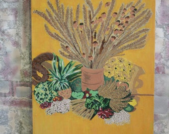 Still Life with Spikes Nature Morte Oil Painting