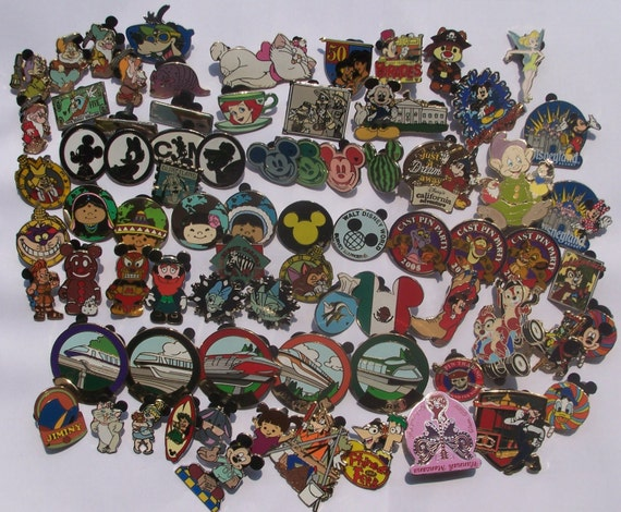 200 DISNEY TRADING PIN Lot Great for Scrapbooks and Pin Trading at Disney World, Trading with Cast Members