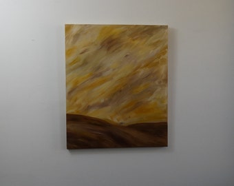 """Desert Winds Original Acrylic Abstract Painting 18""""x24"""" Canvas Free Continental US Shipping"""