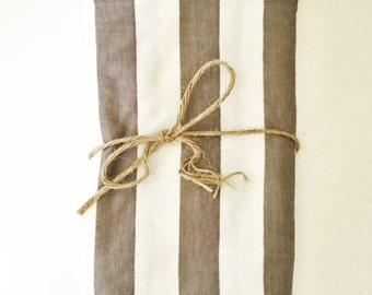 White and Gray Striped Swaddle Blanket
