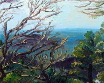 Ozark Landscape, Caney Mountain: Oil Painting Print #4