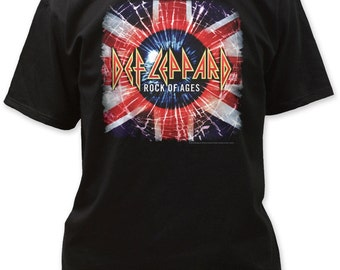 Def Leppard Rock of Ages Adult Tee - DEF08 (Black)