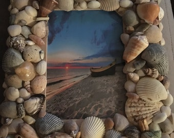 Sea Shell Picture Frame