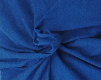 Cotton Lycra Spandex Knit Jersey Royal by the yard (S1)