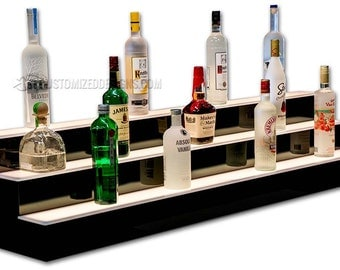 "60"" Liquor Shelves with LED Lighting - Free Shipping!"