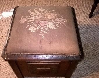 antique wood chamber pot