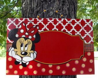 Ready to personalize Teacher Door Sign Minnie Mouse Disney -Kids room door sign-Classroom Door Sign-Teacher sign Disney nursery