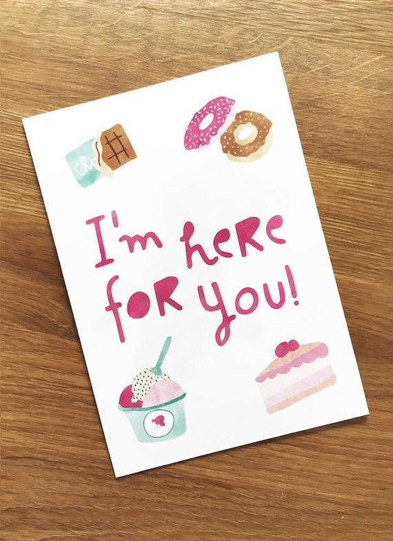 Postcard with illustration, I