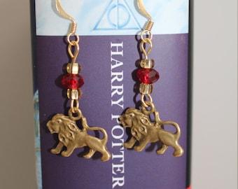 Harry Potter Gryffondor or Slytherin earrings