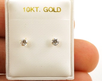 10k Gold Screwback Baby Earrings - 3mm