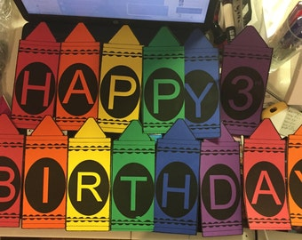 Crayola Crayon Personalized Banner