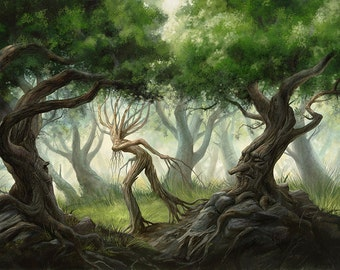 Ents from artist Gonzalo Kenny - Print Poster Wall Decor - Fantasy Art