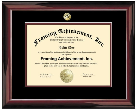 University Degree Frame College Major Seal Logos Glossy