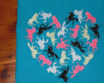 Horse heart tea towel