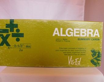 Algebra Summary Cards Vis-Ed VE501 Study Flash Cards  (378)