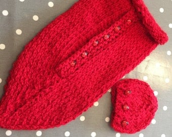 LadyBird Merino/Alpaca Red Snuggle Sack
