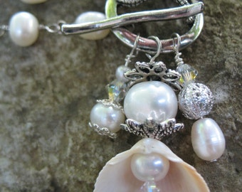 Bridal Necklace, fresh water pearls