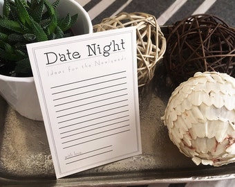 Wedding - Date Night Ideas - Instant Download - Printable Cards