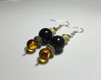 Brown tiger eye earrings