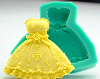 Mold Silicone décor dress dough sugar & Amande Cake Design