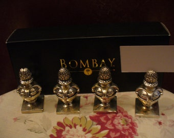 Bombay Silver Plated Place card holders