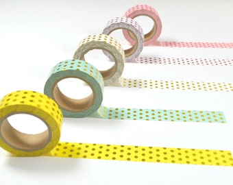 Foil Polka Dots Washi Tape - 15mm