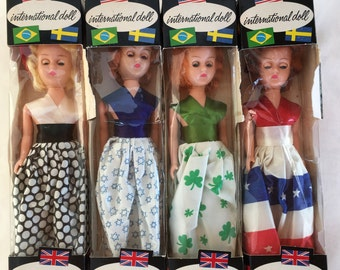 New in Box 1960s International Dolls / Miss Germany / Miss Israel /Miss Ireland / Miss USA