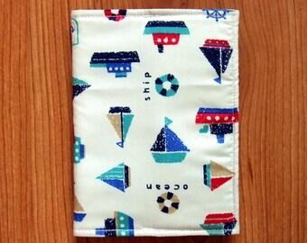 Passport Cover/Holder Print Cotton Fabric Marine/Fabric Passport Case