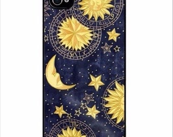 Heat Painting Covers Sun Moon iPhone Case Fit iPhone 5 5c 5s SE 6 6s