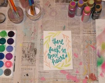 "5"" x 7"" Watercolor Print - ""Faith"""