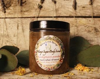 Eucalyptus & Lavender Hemp Sugar Body Scrub - Hemp Skin Care - Willow Creek Springs