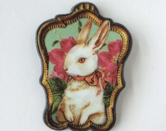Vintage elegant bunny, rabbit  brooch, pin