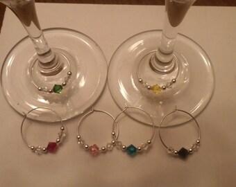 Swarovski Crystal Wine Charms (set of 6)