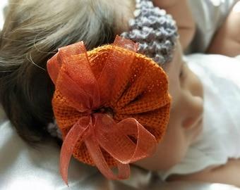 Pumpkin Fall Baby headband