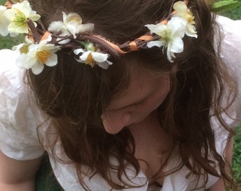 Crown of Cherry Blossoms - Flower Crown - Festival Floral Crown