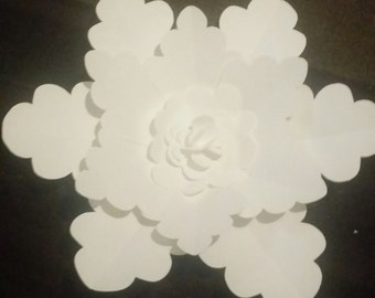 Giant snow flake paper flower