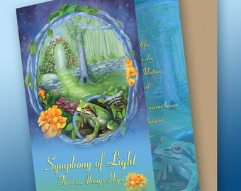 Symphony of Light Greeting Card with Envelope