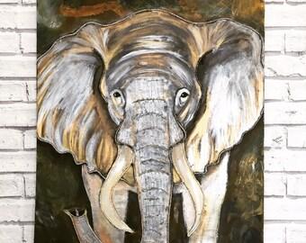 Metallic Elephant Painting