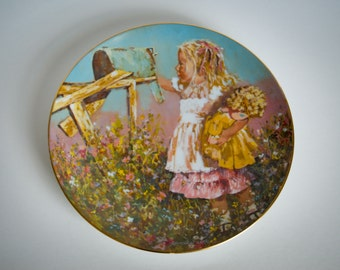 Star's Summer - Jessica Zemsky - 1981 Schmid VINTAGE Collector Plate - limited edition